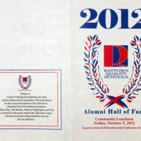 Raytown Schools Alumni Hall of Fame Luncheon Program