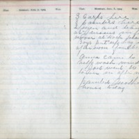 1904 Diary August 7-8