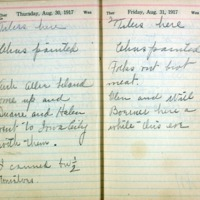 1917 Diary August 30-31