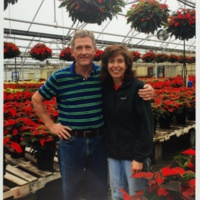 Photo of couple in Greenhouse.