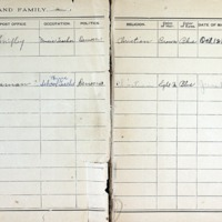 Thomas Family Record Book pages 16 & 17