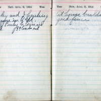 1914 Diary August 8-9