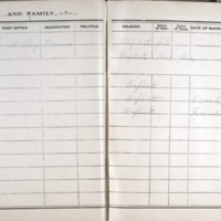 Thomas Family Record Book pages 52 & 53