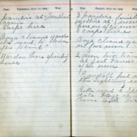 1904 Diary August 11-12