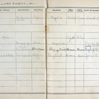 Thomas Family Record Book pages 26 & 27