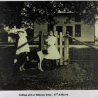 Collings girls at Dehoney home-63rd & Harris