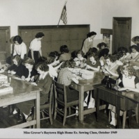 Miss Grover's Raytown High Home Ec. Sewing Class, October 1949