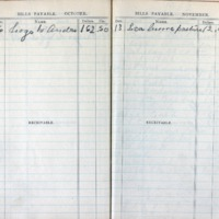 1903 Diary Bills Payable October-November