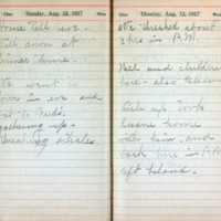 1917 Diary August 12-13