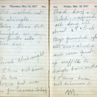 1917 Diary March 15-16