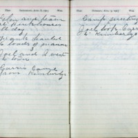 1903 Diary August 8-9
