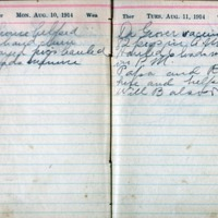 1914 Diary August 10-11