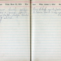 1914 Diary March 31