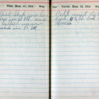 1914 Diary March 11-12