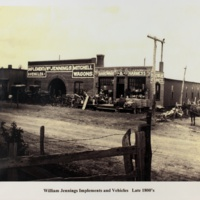 William Jennings implements and vehicles. Late 1800s
