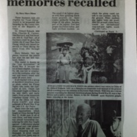 China W.W.II memories recalled