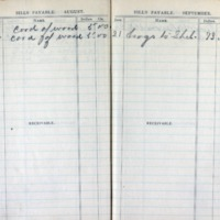 1903 Diary Bills Payable August-September