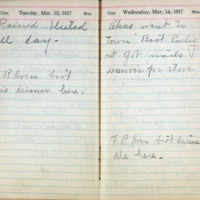 1917 Diary March 13-14