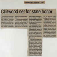 Chittwood set for state honor