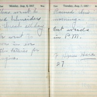 1917 Diary August 6-7
