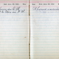 1914 Diary August 22-23