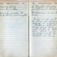 1904 Diary August 19-20