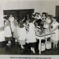 Miss Grover's Raytown High Home Ec. Cooking Class, October 1949